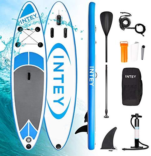 INTEY Tabla Paddle Surf Hinchable 305×76×15cm, Sup Paddle Remo Ajustable, Tabla Stand Up...