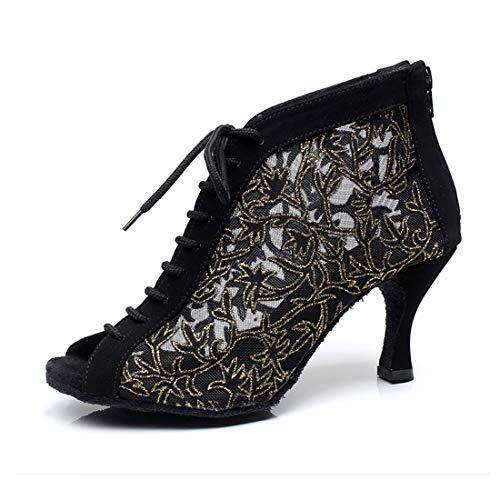 Syrads Zapatos de Baile Latino Mujer Salsa Bachata Kizomba Zapatos de Tango Samba Vals Baile de...