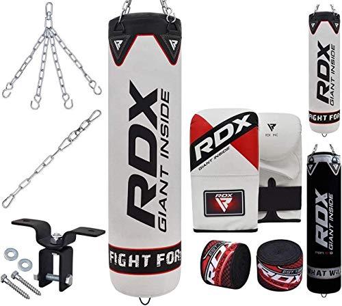 RDX Saco de Boxeo Relleno MMA Muay Thai Kick Boxing Artes Marciales con Soporte Pared Cadena...