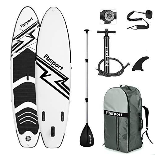 FBSPORT Tabla Sup Hinchable, Tabla de Surf Hinchable, Tabla Inflable de Paddle Surf, Sup Kit...