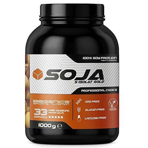 Soja Isolate GOLD - (100% vegetariana de proteína de soja natural, aislado lactosa, proteína...