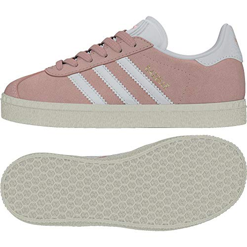 Adidas Gazelle C, Zapatillas de Running Unisex Niños, Multicolor (Ice Pink F17/Ftwr White/Gold...