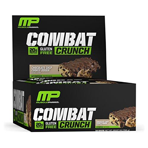 Musclepharm Combat Crunch Bars Chocolate Chip Cookie Dough - 12 Barras